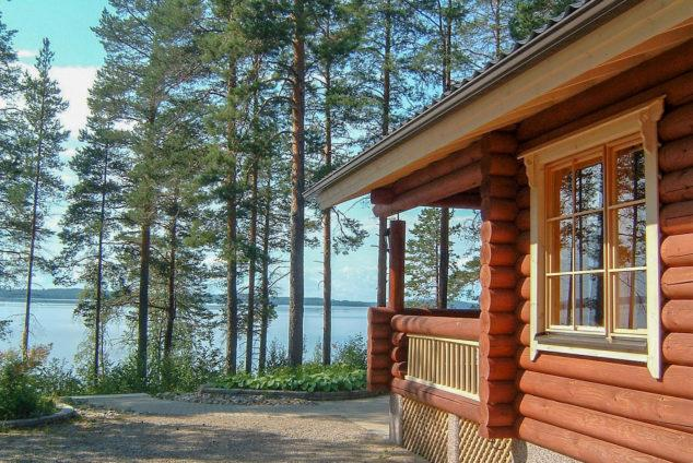 Lake view from a cottage in Koli